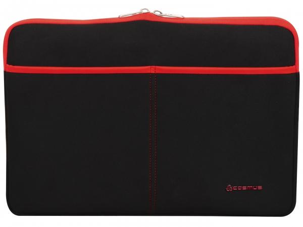 Cosmus Amaze Laptop Sleeve Neoprene Fabric - Black & Red
