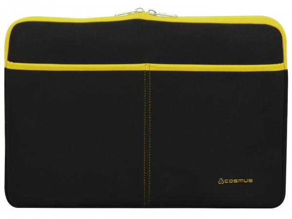 Cosmus Amaze Laptop Sleeve Neoprene Fabric - Black & Yellow