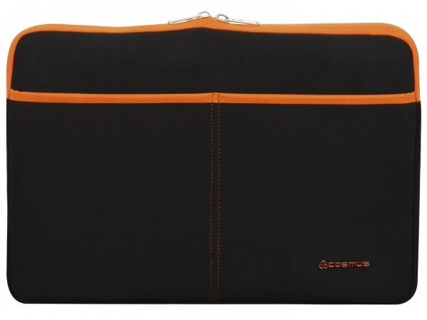 Cosmus Amaze Laptop Sleeve Neoprene Fabric - Black & Orange