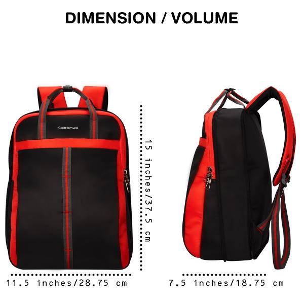 Converto Laptop Bag Black Red