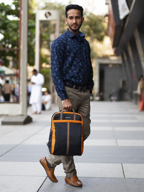 Converto Laptop Bag Black Orange