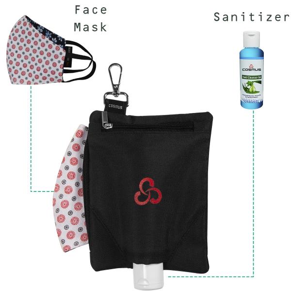 Cosmus Handlich - Black- Hand sanitizer Holder Pouch