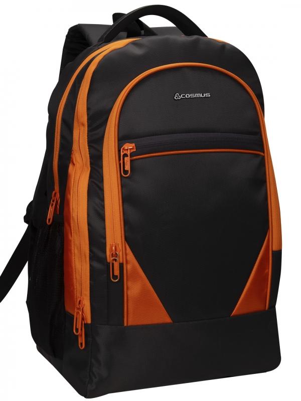 COSMUS Duke Black-Orange Laptop Backpack