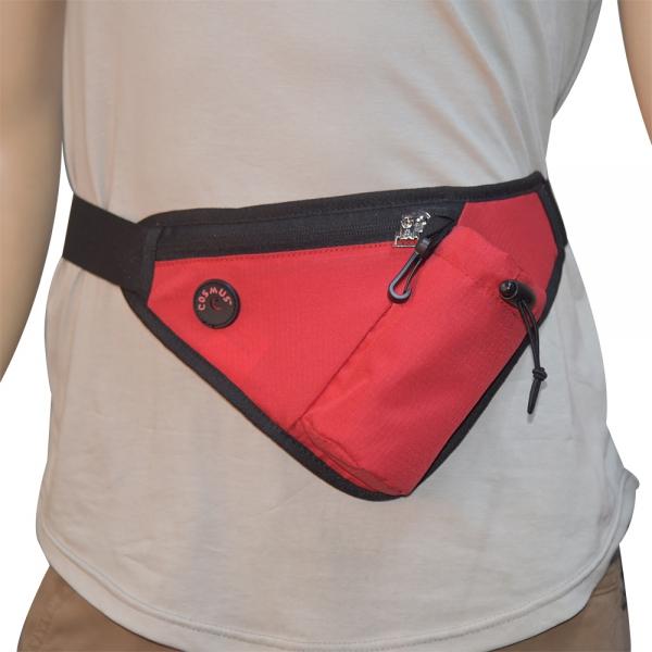 Cosmus Waist Line Waist Pouch Bag Red