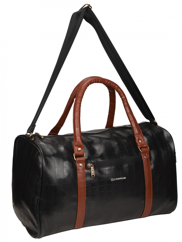 Cosmus Bahamas Black PU Stylish duffle bag