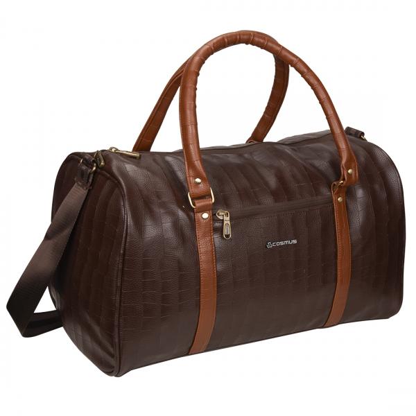 Cosmus Bahamas Brown PU Stylish duffle bag