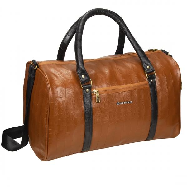 Cosmus Bahamas Tan PU Stylish duffle bag