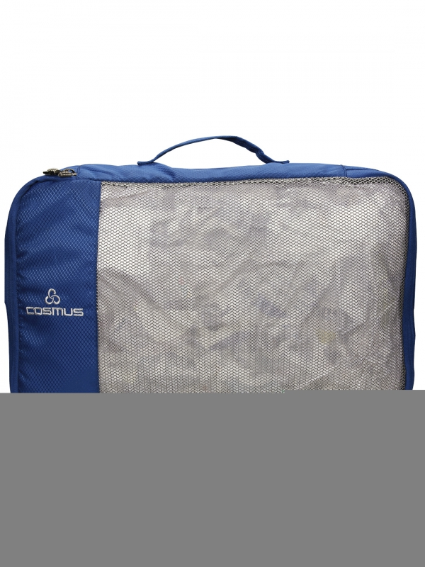 Packing Cubes Travel Pouch Polyester Navy Bag Organiser Set of 4
