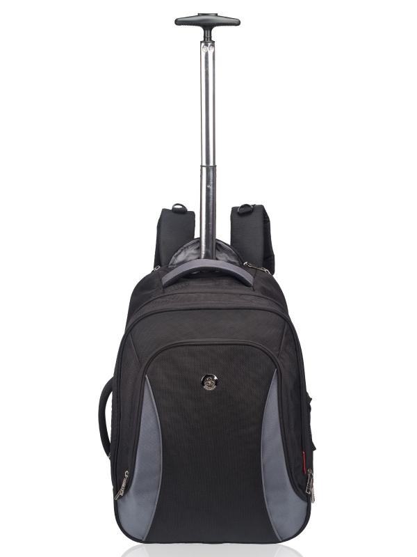 Cosmus Rocker Black Grey Cabin size 42 Backpack trolley Bag