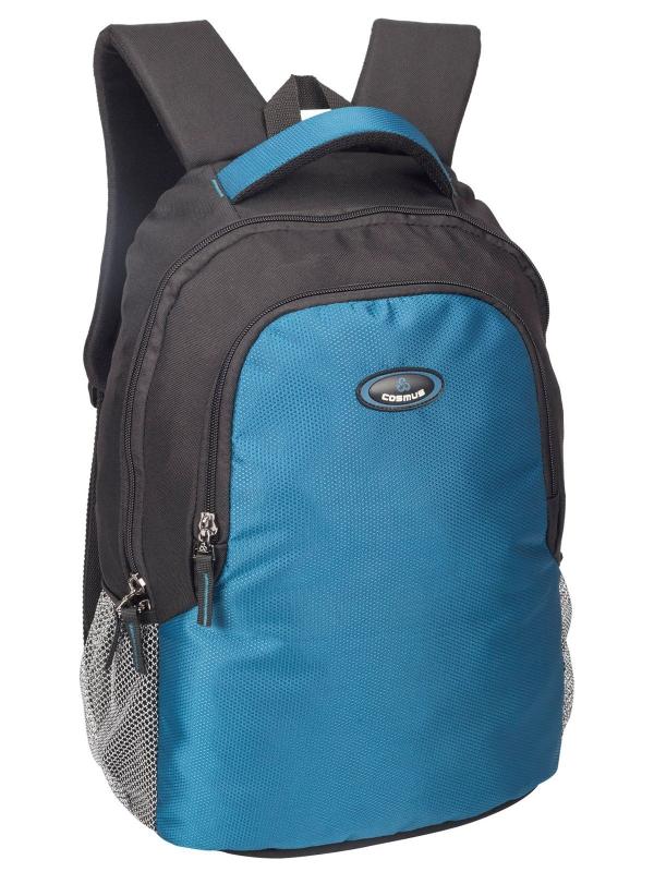 Phoenix  Black & Indigo Blue Casual Laptop Backpack for 15.6 inch Laptop