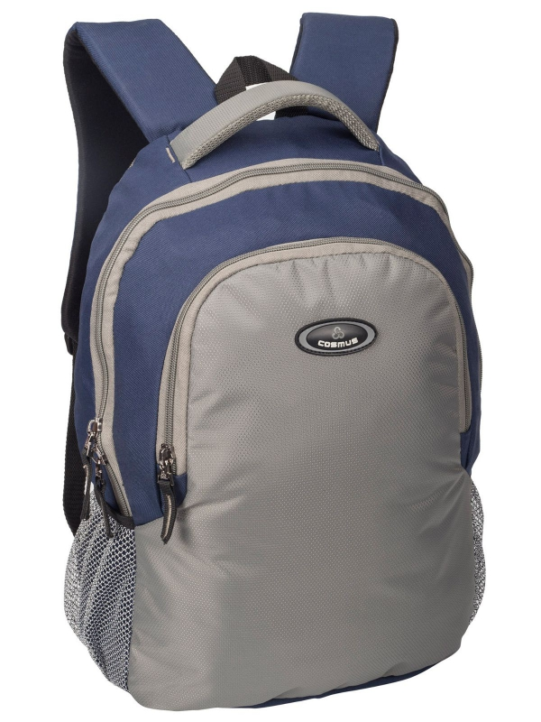 Phoenix Navy Blue & Light  Grey Casual Laptop Backpack for 15.6 inch Laptop