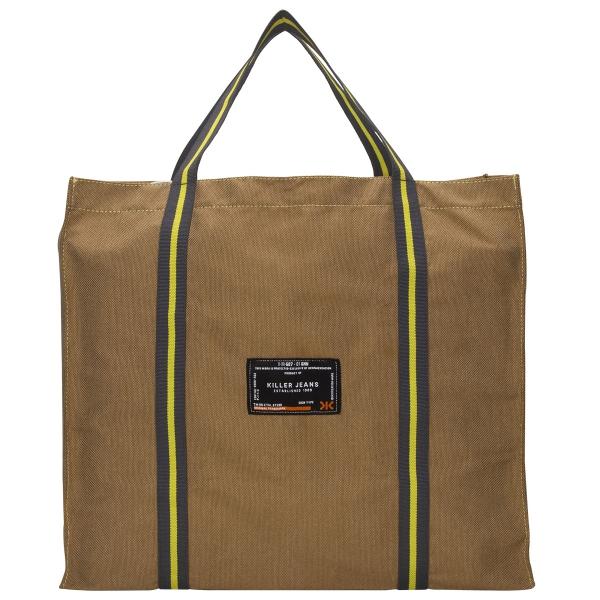 Killer Hippo Reusable Washable Foldable Bag - Khakhi