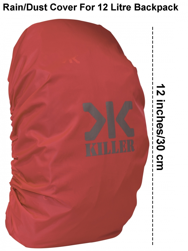 Killer Mini Rain & Dust Cover Red with Pouch for Daypack Backpacks