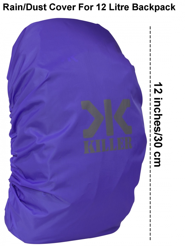 Killer Mini Rain & Dust Cover Purple with Pouch for Daypack Backpacks