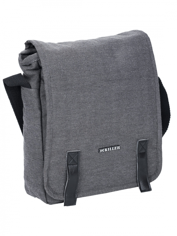 Killer Tokyo Dark Grey Canvas messenger bag