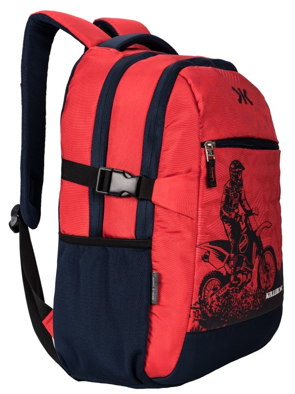 Berlin Red Navy Backpack