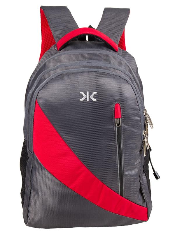 Vintage - Laptop Backpack for 15.6-inch Laptop (Grey & Red)