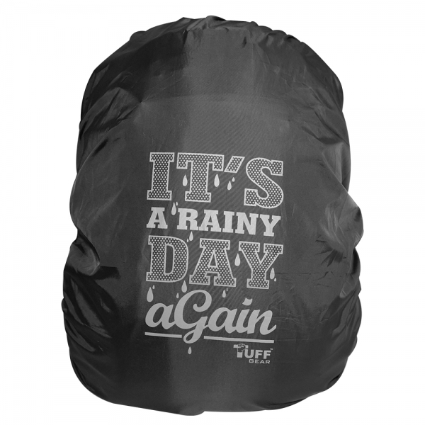 Its a Rainy Day Again Black  Rain & Dust Cover with Pouch for Backpacks