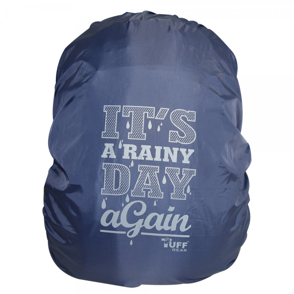 Its a Rainy Day Again Navy Rain & Dust Cover with Pouch for Backpacks