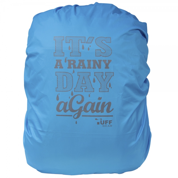 Its a Rainy Day Again T.Blue Rain & Dust Cover with Pouch for Backpacks