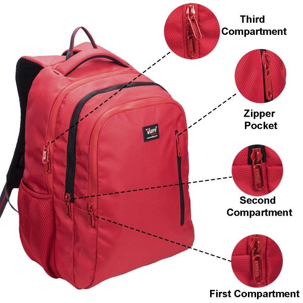 Tuff Gear Denmark Red Laptop Backpack