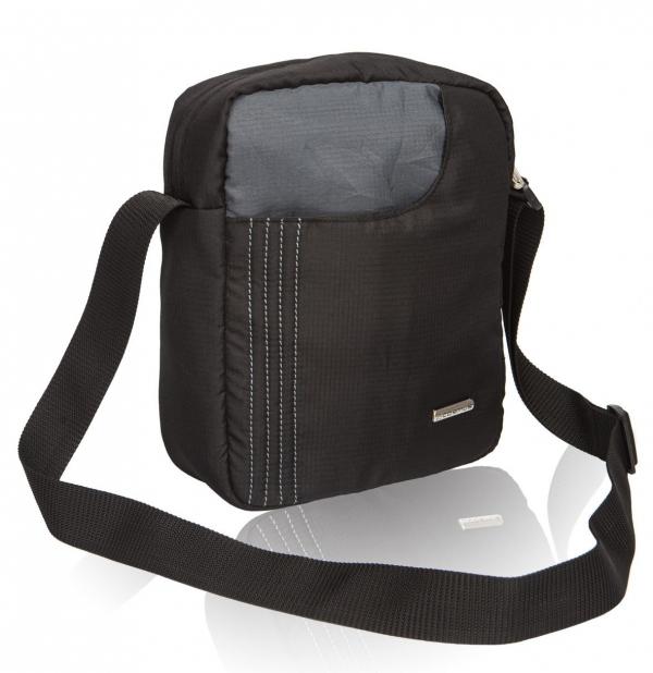 Cosmus Stitchwell Black Grey Sling Bag