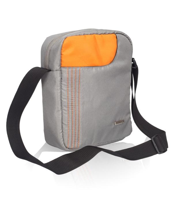 Cosmus Stitchwell Grey Orange Sling Bag