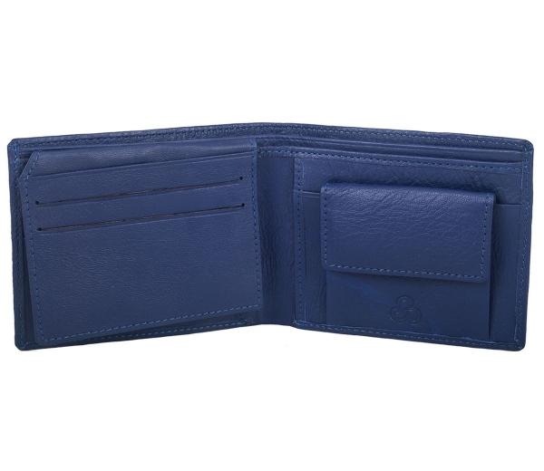 Genuine Leather Wallet for Men Blue (LW-0009)