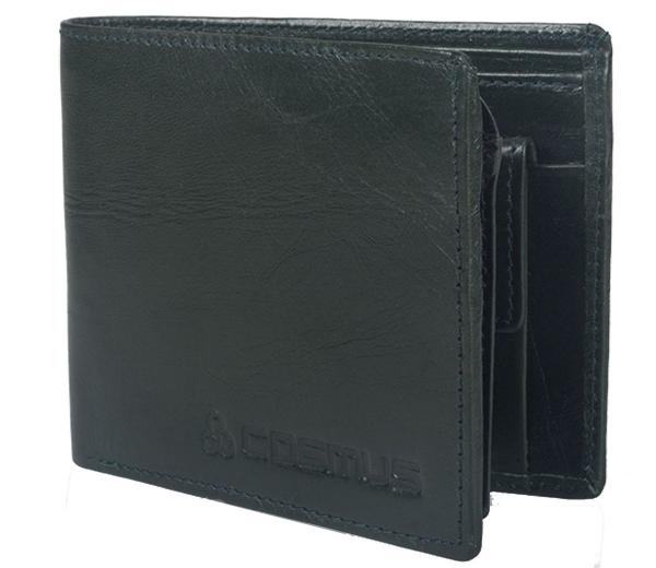 Genuine Leather Wallet for Men Bottle Green (LW-0009)