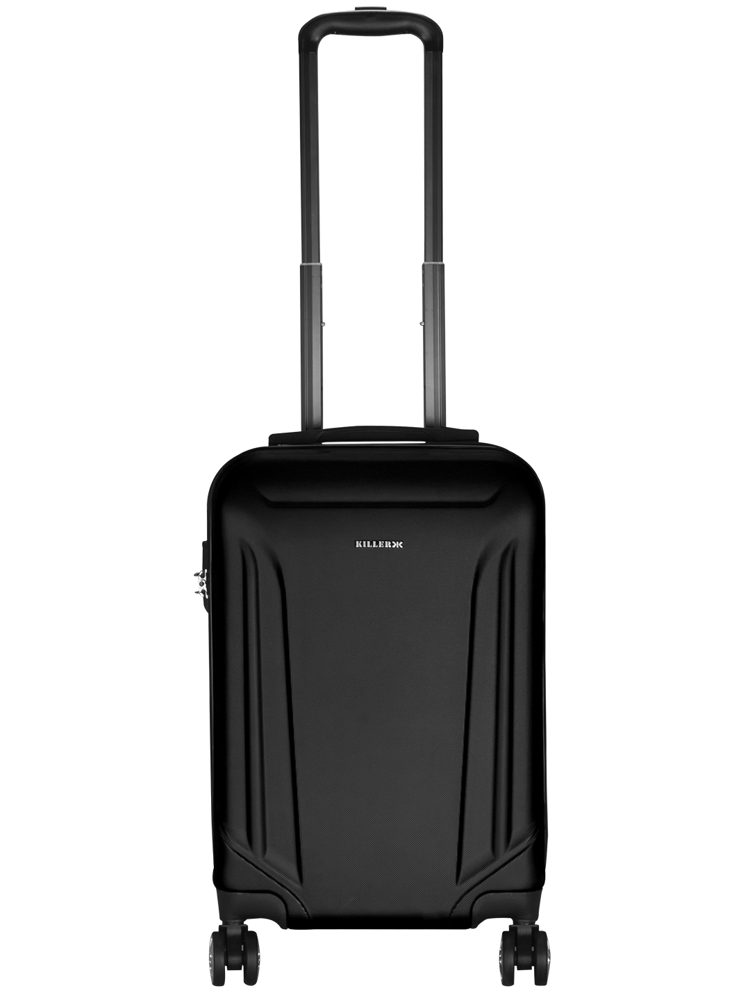 Victoria Polycarbonate (20 inches) Black Trolley Suitcase