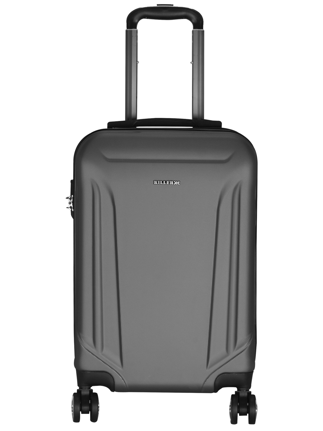 Victoria Polycarbonate (20 inches) Grey Trolley Suitcase