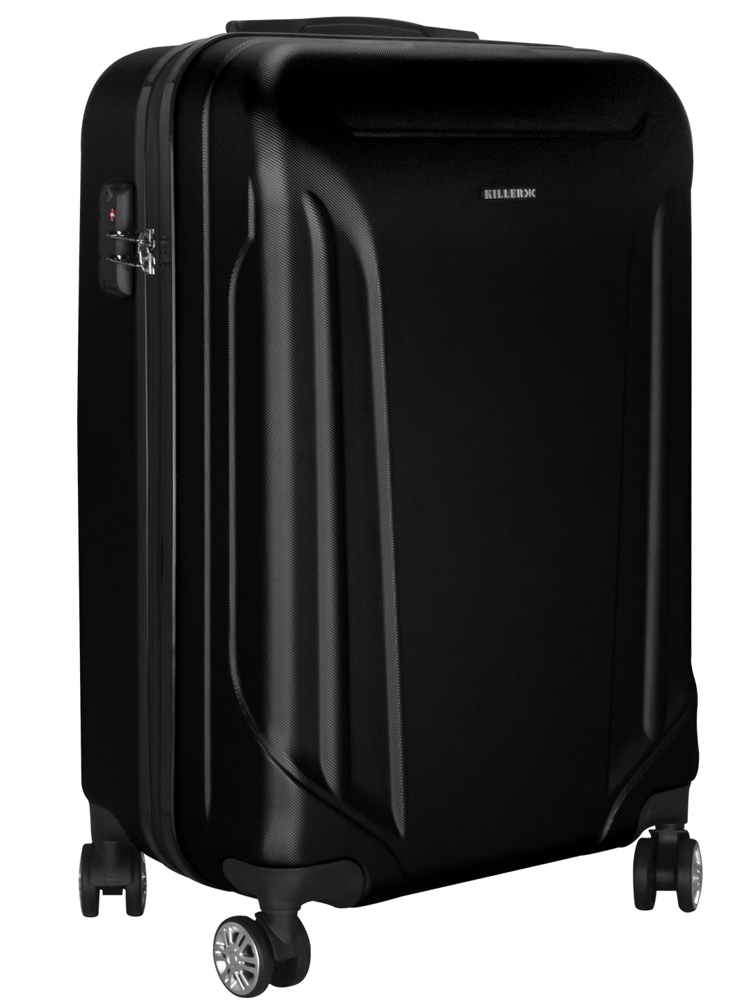 Victoria Polycarbonate (24 inches) Black Trolley Suitcase