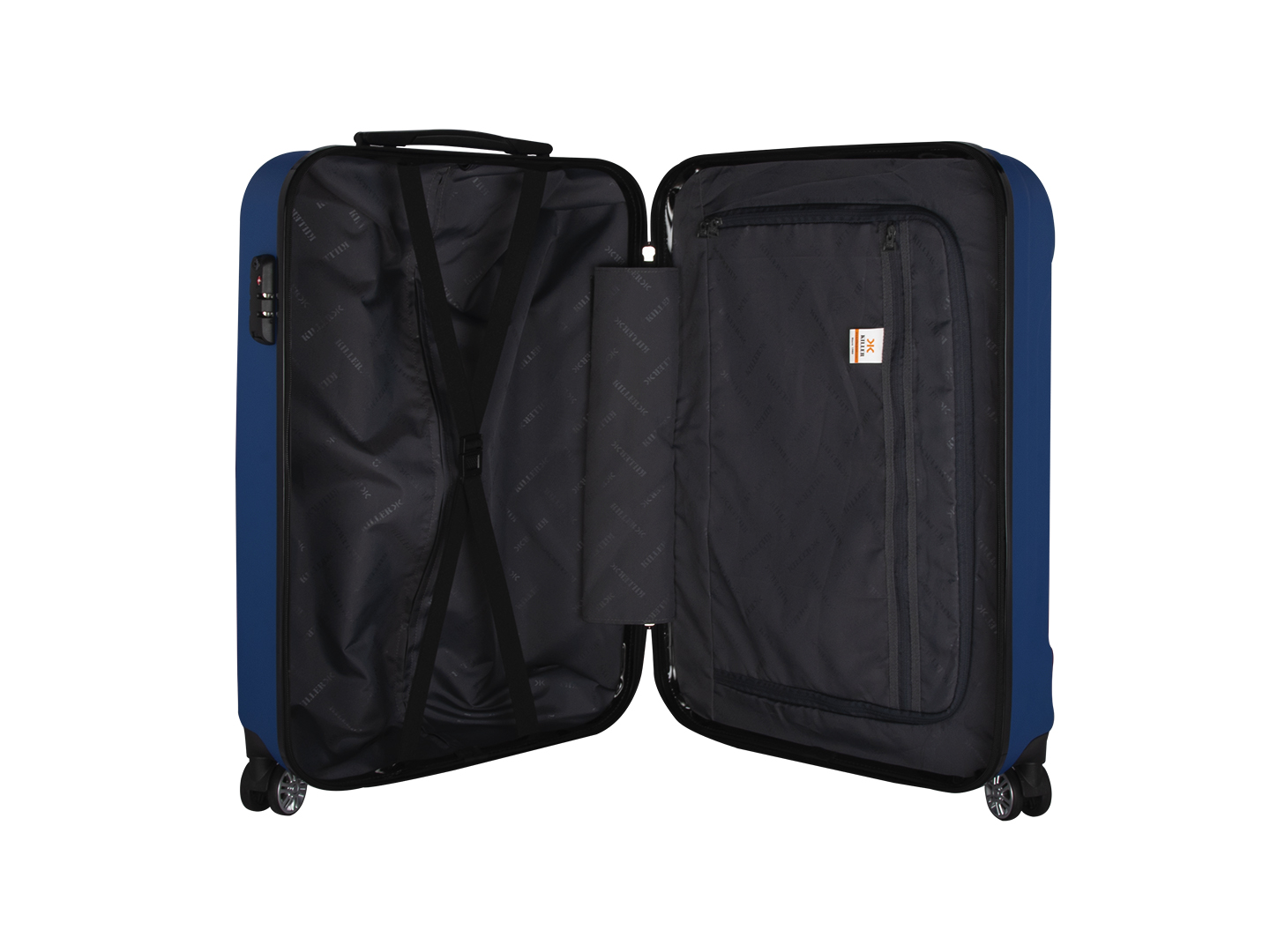 Victoria Polycarbonate (20 inches) Royal Blue Trolley Suitcase