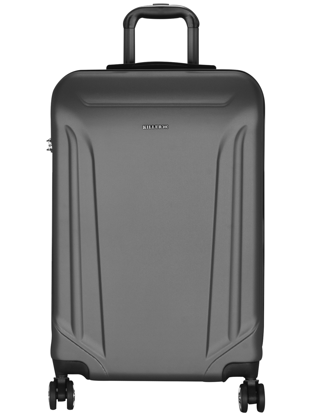 Victoria Polycarbonate (24 inches) Grey Trolley Suitcase
