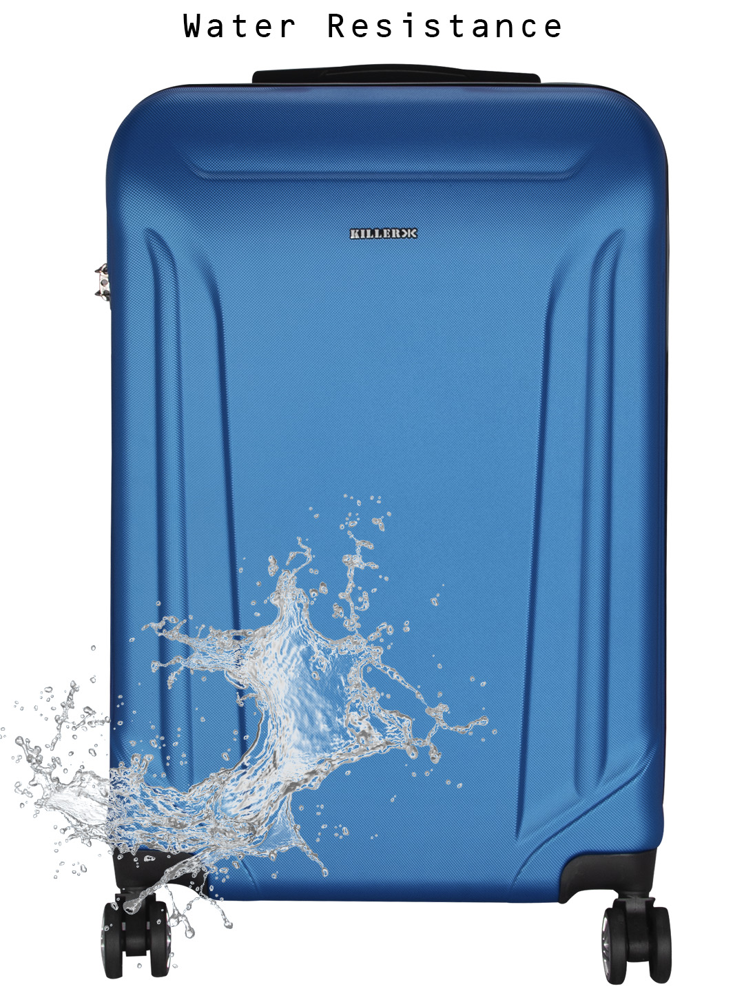 Victoria Polycarbonate (24 inches) Royal Blue Trolley Suitcase