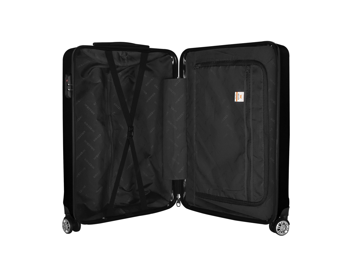 Hilton Polycarbonate (20 inches) Black Trolley Suitcase