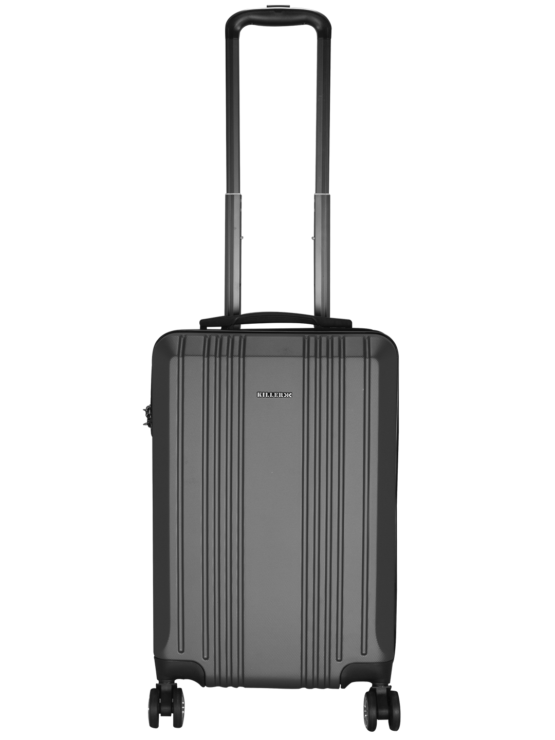 Hilton Polycarbonate (20 inches) Grey Trolley Suitcase