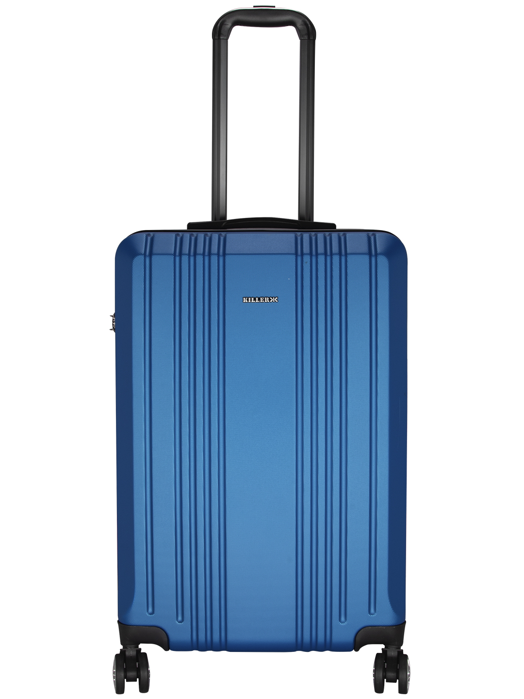 Hilton Polycarbonate (24 inches) Royal Blue Trolley Suitcase
