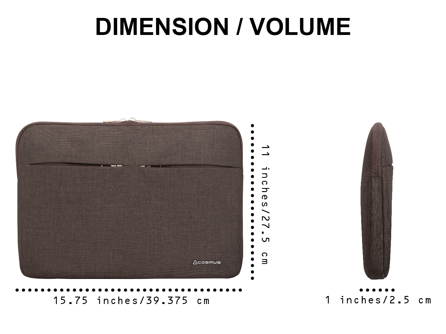 Affinity Dark Grey Laptop Sleeve for up to 15.6 inches Laptop