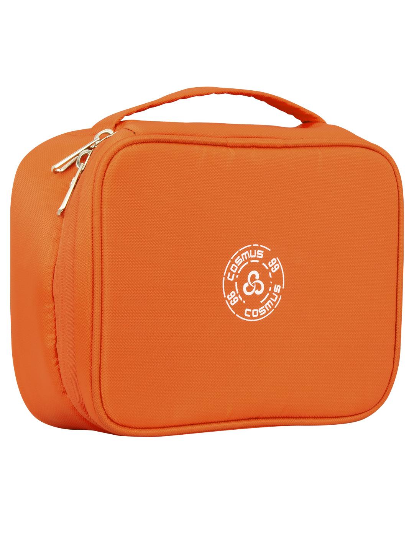 Cosmus RUSSET Orange Travel Cosmetic Organizer Case Makeup bag