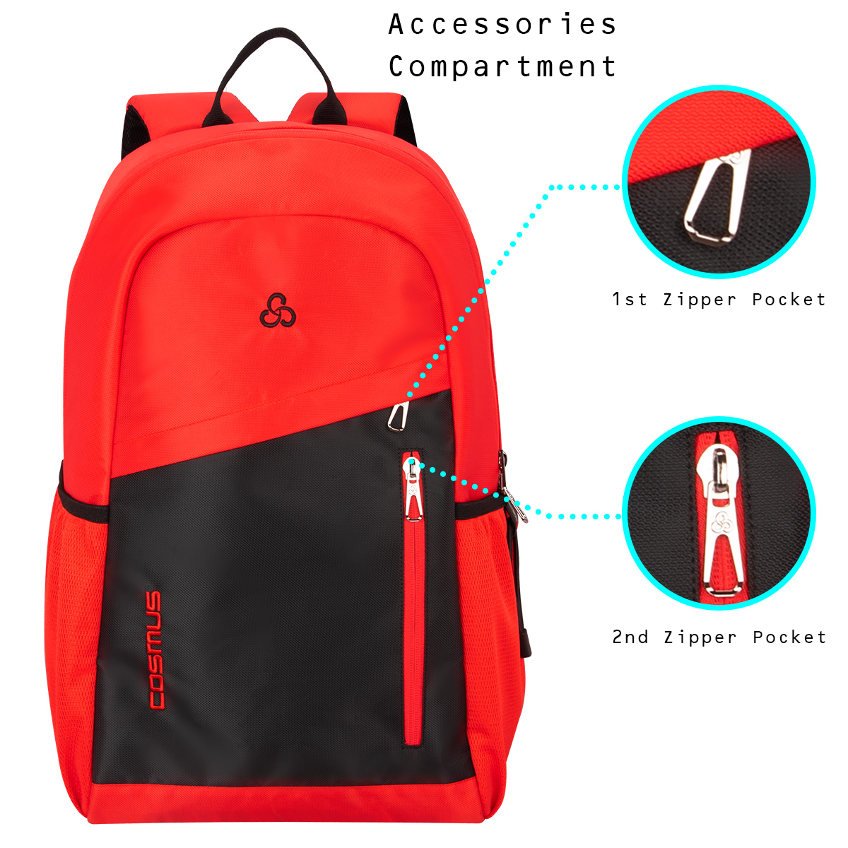 Flaunt 29 L Red & Black Casual Backpack