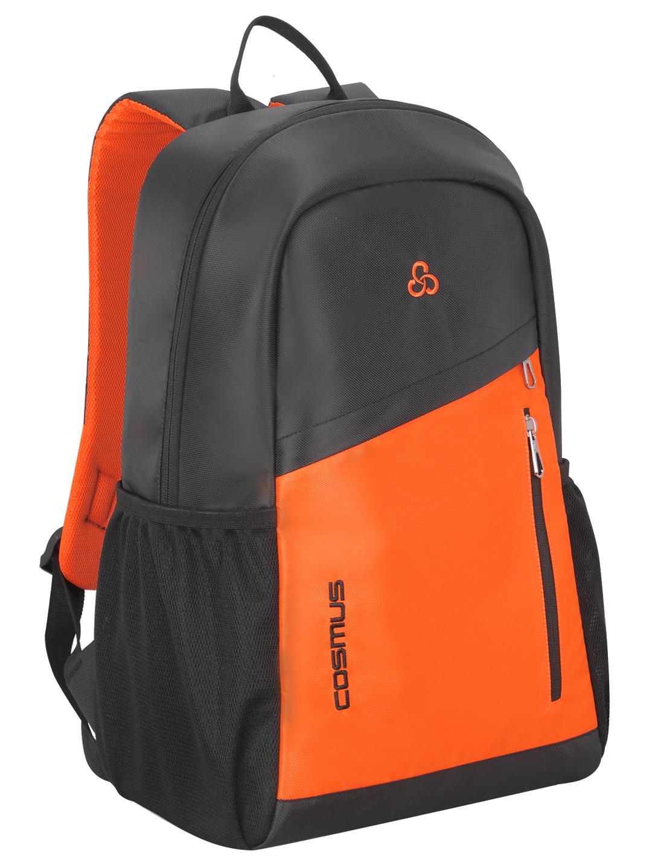 Flaunt 29L Grey & Orange Casual Backpack