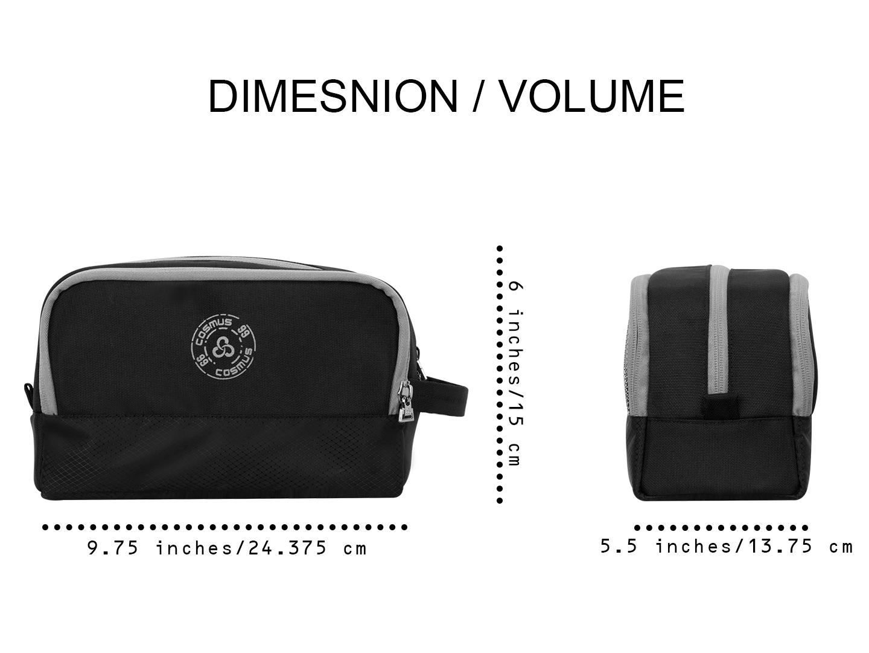Carryon travel Black toiletry pouch bag