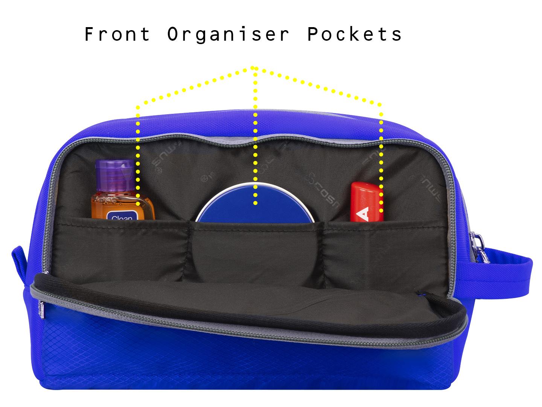 Carryon travel Royal Blue toiletry pouch bag
