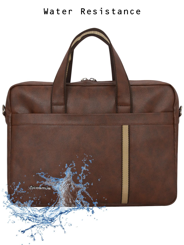 Chancellor Brown PU leather Laptop Bag