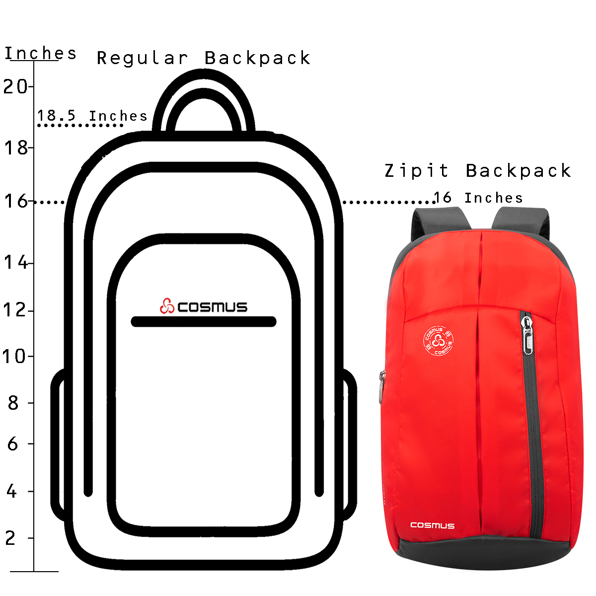 Zipit Orange Daypack